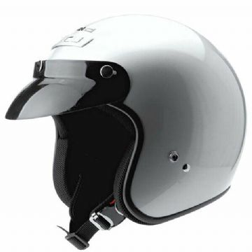 Held Rune Silver Scooter Motorcycle Motorbike Urban Open Face Helmet
